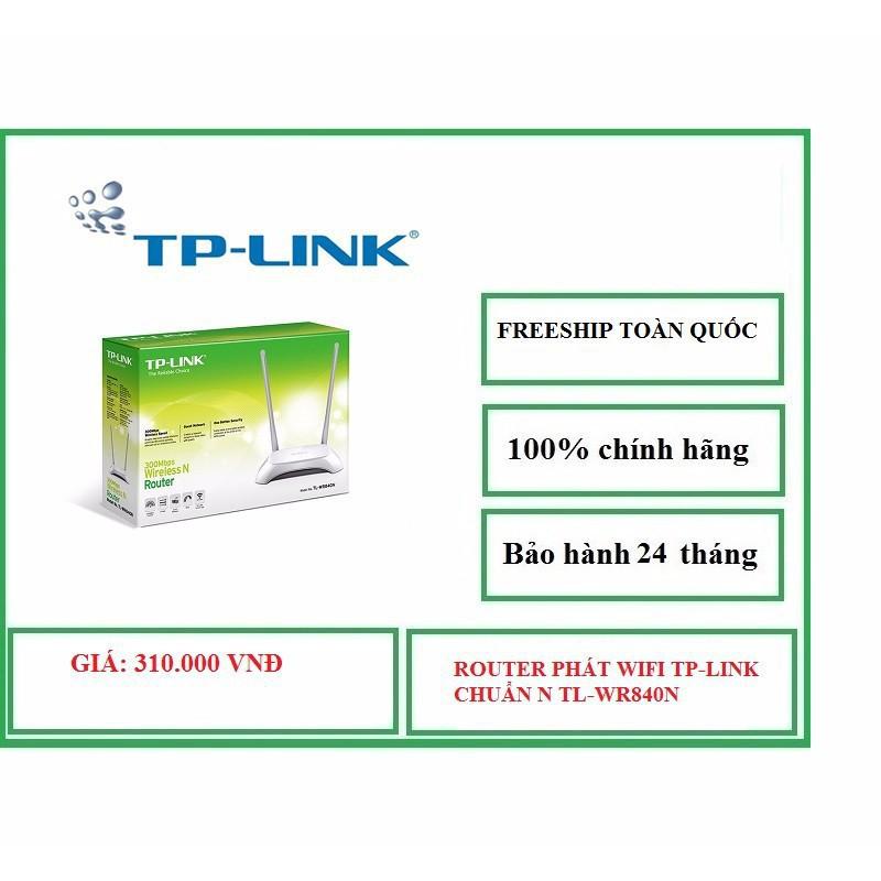Phát WIFI TP LlNK TLWR840N Chuẩn N - 2851475 , 417306080 , 322_417306080 , 310000 , Phat-WIFI-TP-LlNK-TLWR840N-Chuan-N-322_417306080 , shopee.vn , Phát WIFI TP LlNK TLWR840N Chuẩn N