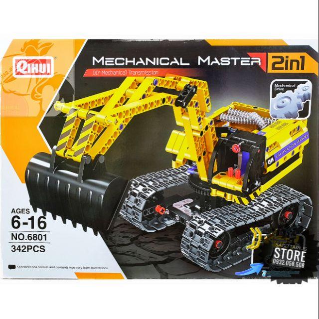 Lego Lắp Ráp Xe Công Trình 2 in 1 ( 342 Mảnh ) – Vừa ráp xe vừa có thể ráp Robot