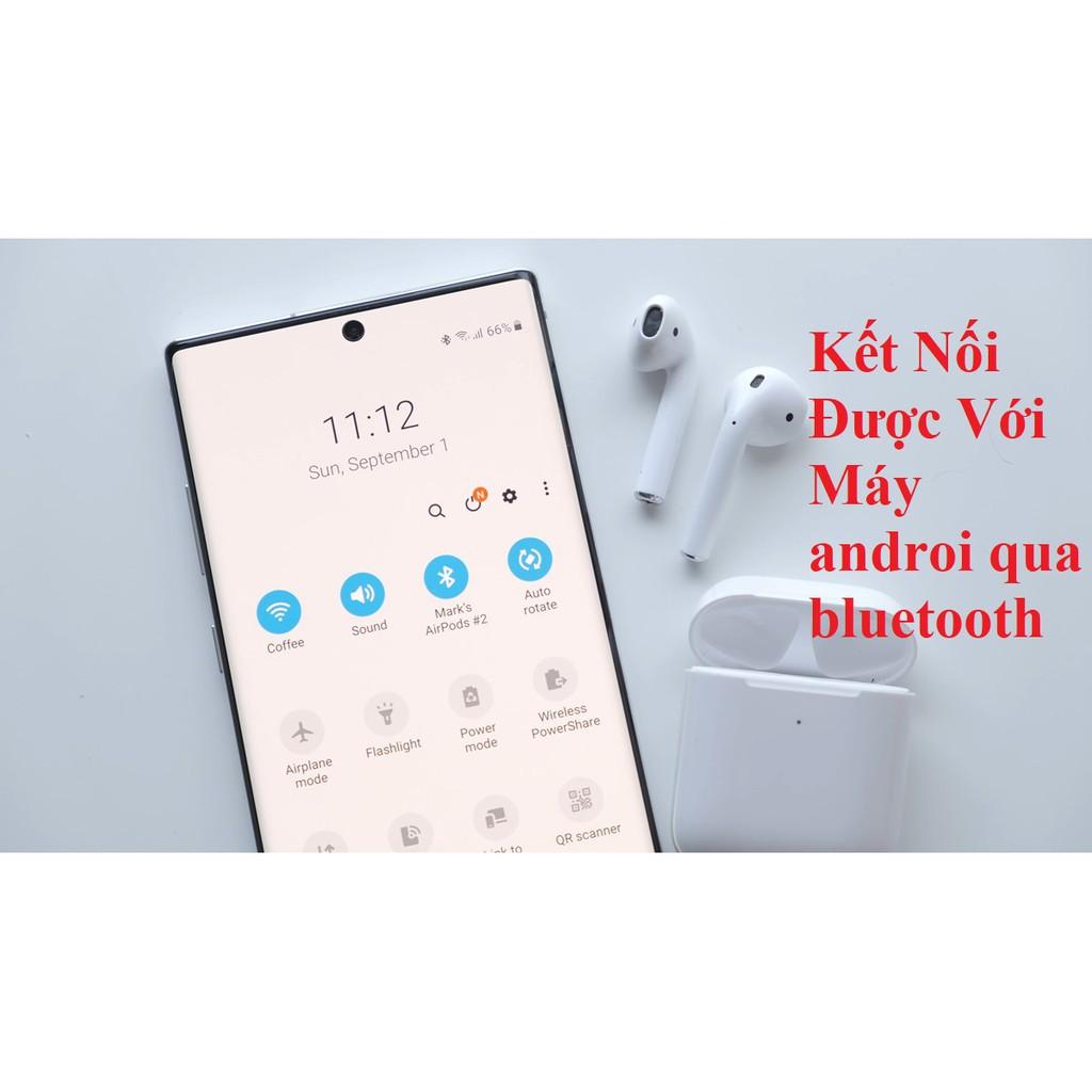 Tai nghe bluetooth không dây Air 2 Tai nghe TWS phiên bản đổi tên, tháo tai dừng- phát nhạc, nghe nhạc 4h