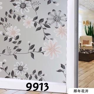 Yêu ThíchGiấy dán kính mờ hình hoa to (khổ 90cm) che phòng ngủ mã 9913