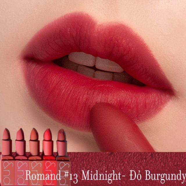 Kết quả hình ảnh cho son romand zero gram sunset edition midnight