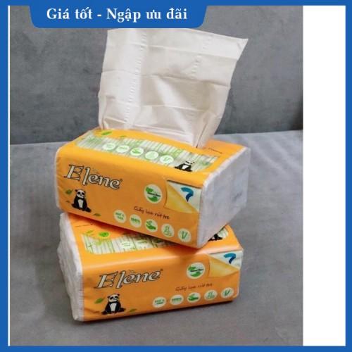 Combo 2 gói khăn giấy rút Gấu trúc Elene 100 tờ 3 lớp gấp