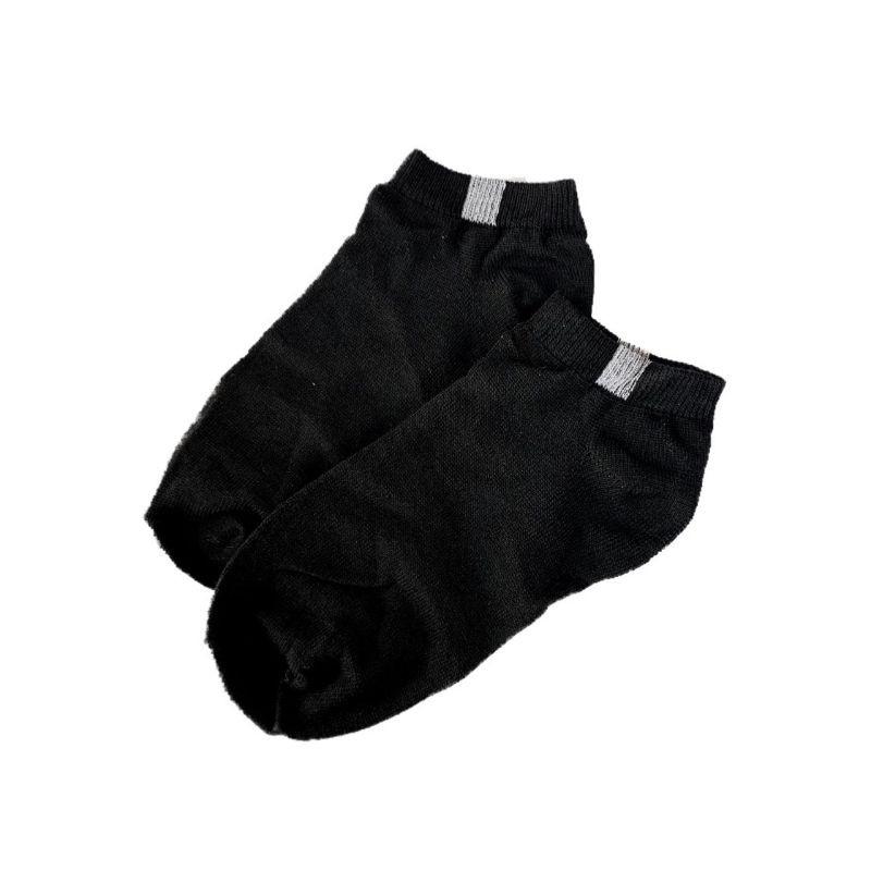 Vớ Cotton Trơn SGES Unisex Nam Nữ Màu Đen Trắng
