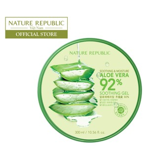 Gel lô hội dưỡng đa năng NATURE REPUBLIC Soothing Moisture Aloe Vera 92% Soothing Gel 300ml