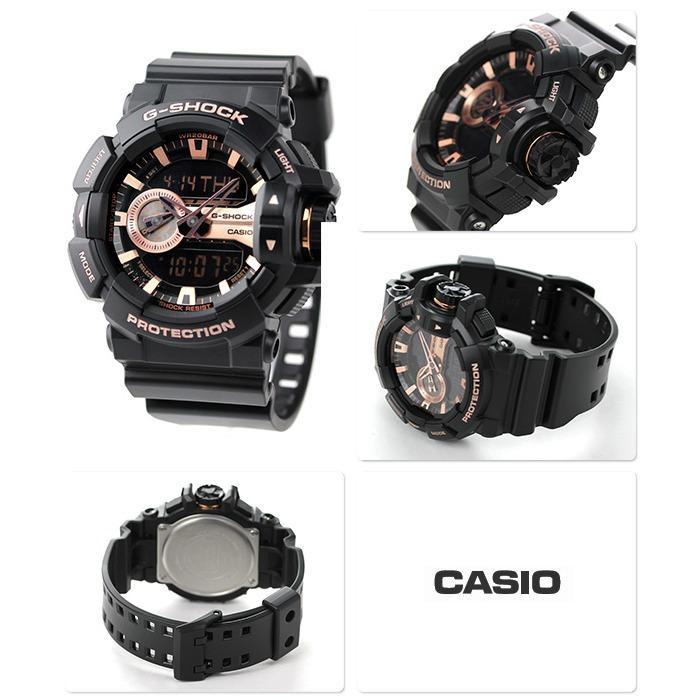 Đồng hồ nam dây nhựa G-SHOCK chính hãng Casio Anh Khuê GA-400GB-1A4DR