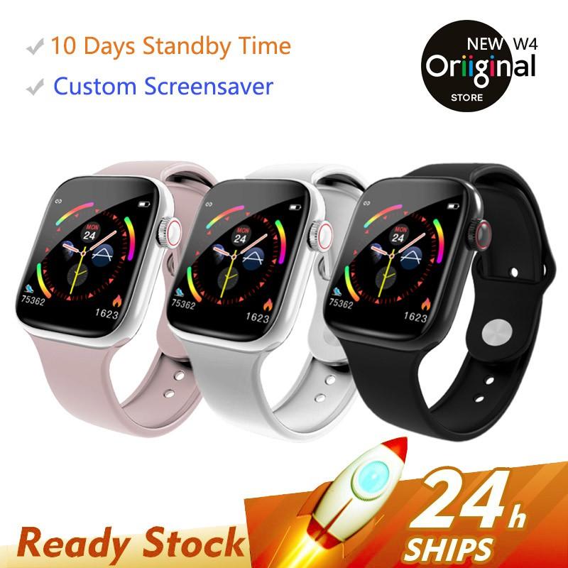 Đồng hồ thể thao thông minh đeo tay W4 màn hình cảm ứng kết nối bluetooth định vị theo dõi sức khỏe cho iPhone Xiaomi