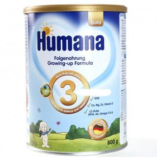 Sữa Humana Gold 3 800gr date t9 2021