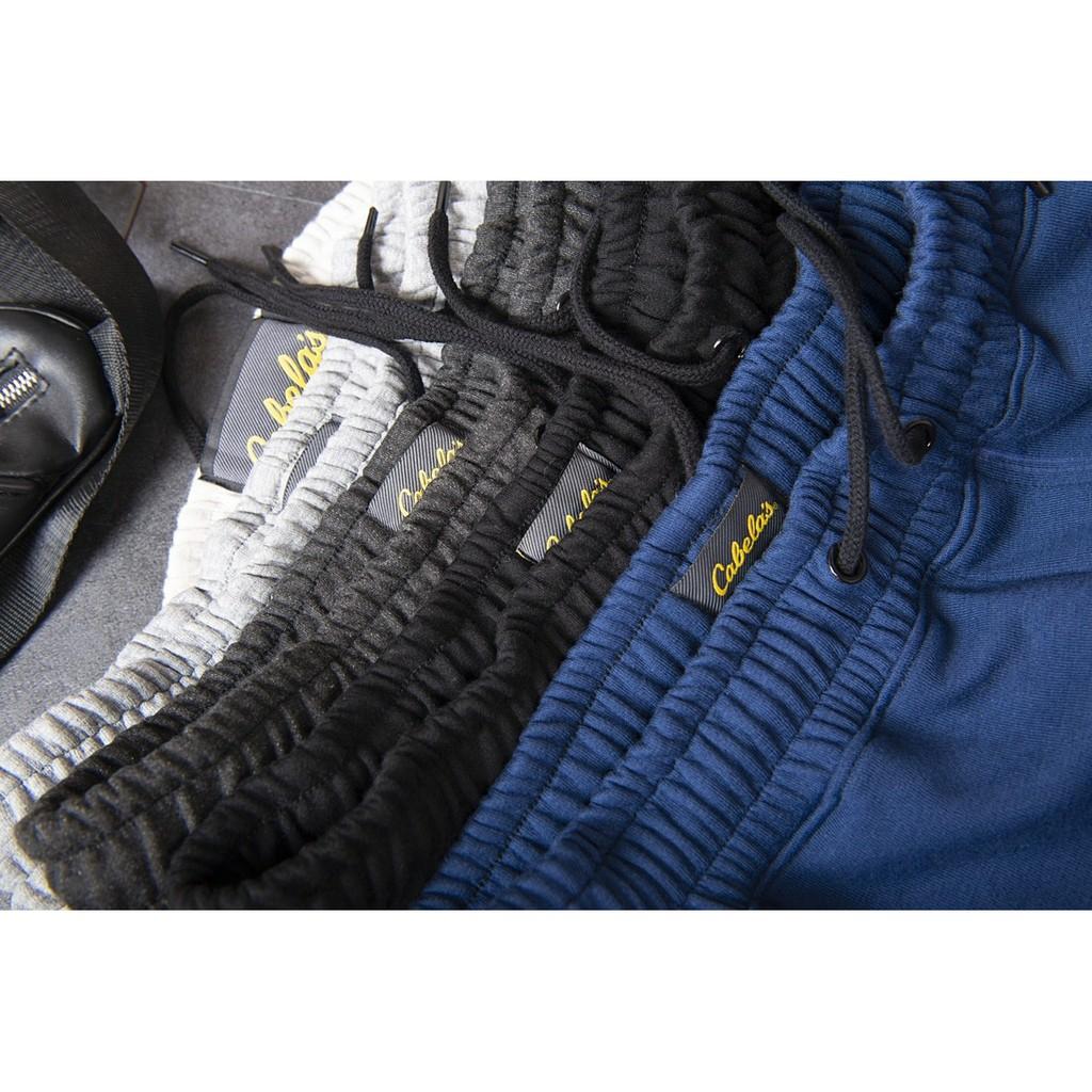 Quần nỉ nam dài đên mắt cá chân, chất liệu BC dày, mặt trái dệt chéo, quần cotton co dãn 2 chiều