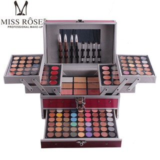 MISS ROSE Cosmetic Bag Makeup Artist Special Makeup Kit Full Professional Makeup Set Box Cosmetics 190 Color Lady Make Up Set