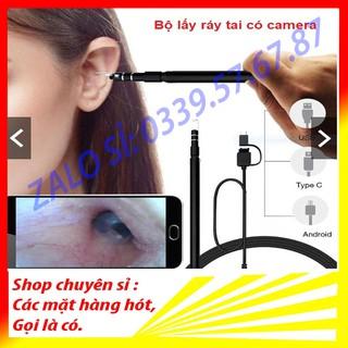 Bộ Lấy Ráy Tai Có Camera Cao Cấp 3 Trong 1 Soi Tai Mũi Miệng tích hợp nhiều dòng smartphone cao cấp