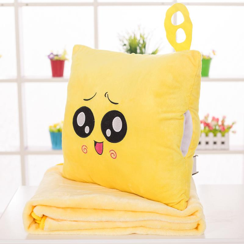 ❡✼✣Cute cartoon cubs cuddle Pillow Quilt Dual-use plush toy office air conditioning blanket three in one birthday gift
