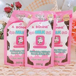 Muối tắm trắng Thái Lan vị sữa bò A BONNE SPA MILK SALT 250g thumbnail