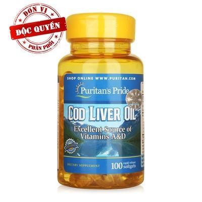 Bổ não, mắt - dầu gan cá tuyết cod liver oil 100v