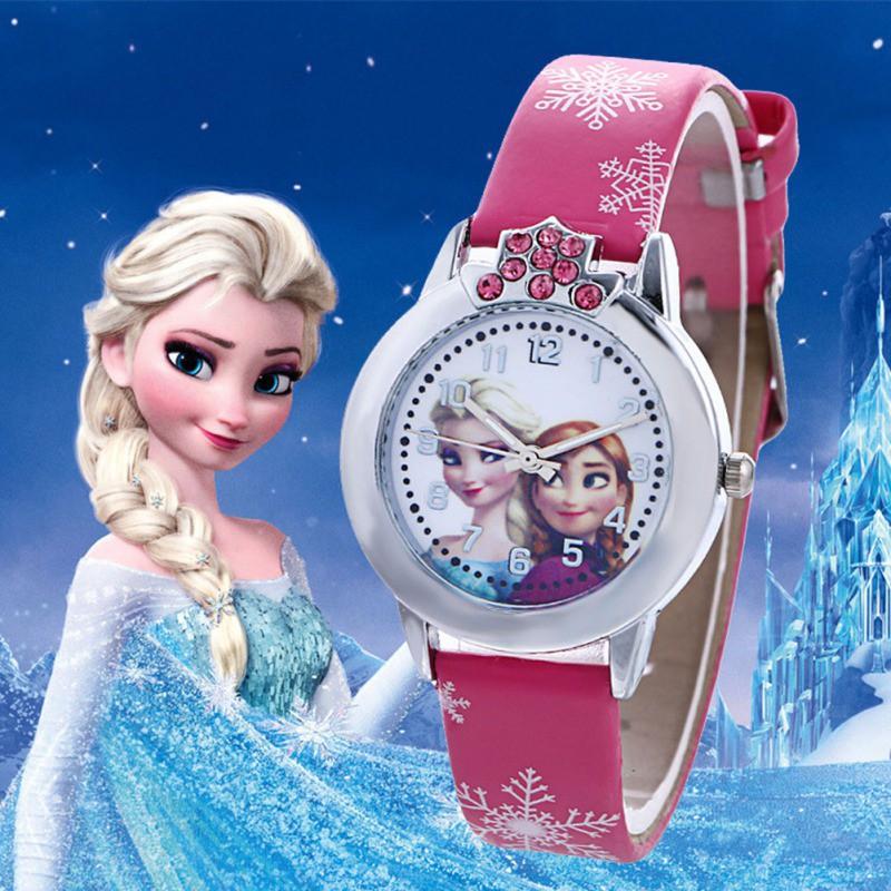 [Mã FASHIONCB73 hoàn 10K xu 50K] Đồng hồ đeo tay họa tiết hoạt hình nữ hoàng băng giá dành cho bé