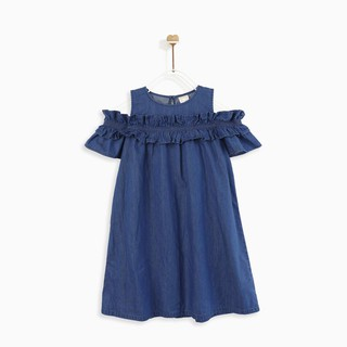 Áo đầm bé gái RUFFLE COLD SHOULDER M.D.K