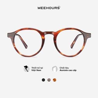 Gọng kính cận nam nữ WeeHours KIC, dáng tròn thời trang, nhựa Acetate cao cấp thumbnail