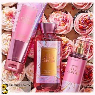 ❄️ BST Winter Scents ❄️ | Pink Velvet Cupcake | Gel Tắm Dưỡng Thể Xịt Thơm Nước HoaToàn Thân Bath & Body Works