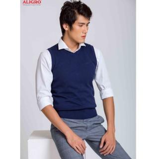 Áo len gile Aligro ALENGL013 màu navy