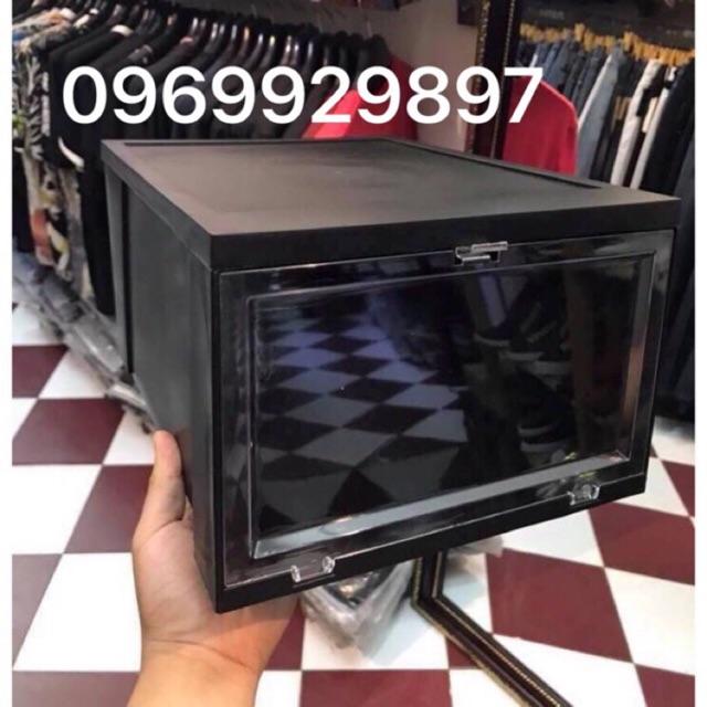 Hộp Size Lớn Hộp Đựng Giày Thông Minh Việt nhật nhựa cứng nguyên khối cao 18 cm