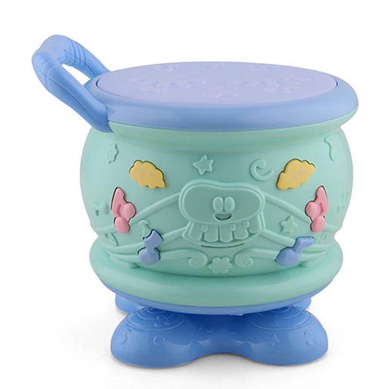 Cute Baby Toys Rotary Drum Music Hand Drum Beat Instruments Christmas Gift