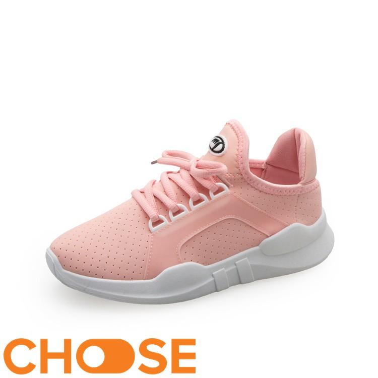 Giày Nữ Sneaker Vải Choose Cột Dây Siêu Nhẹ Tăng Chiều Cao G23K8