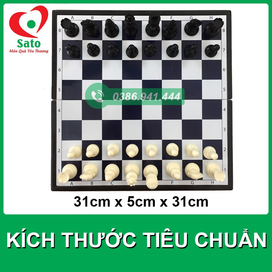 FREESHIP_ Bộ cờ vua có nam châm tiêu chuẩn quốc tế SATO 40