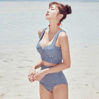 Bộ Đồ Bơi Đi Tắm Biển Nữ Bikini 2 Mảnh Caro sang chảnh-DBG1