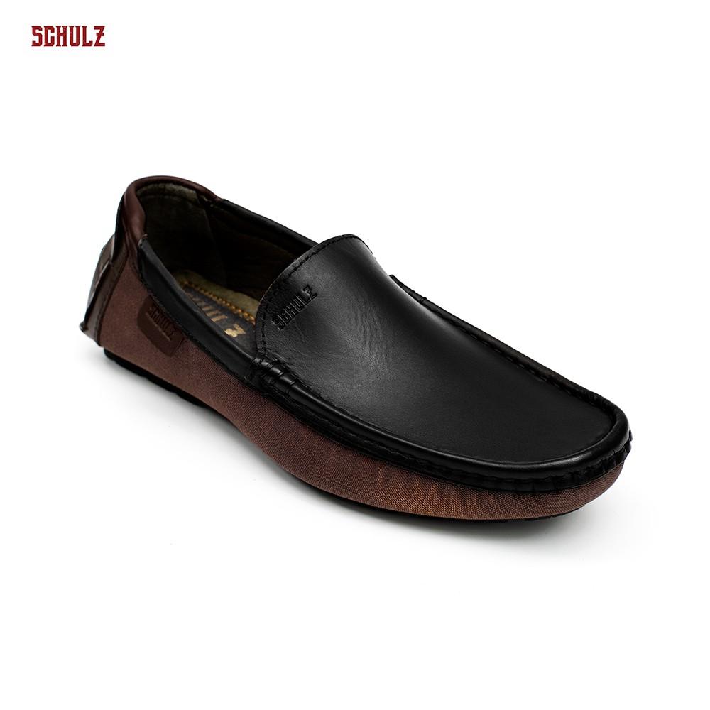 Giày Da Loafer Phối Vải Schulz L1-III19DEN