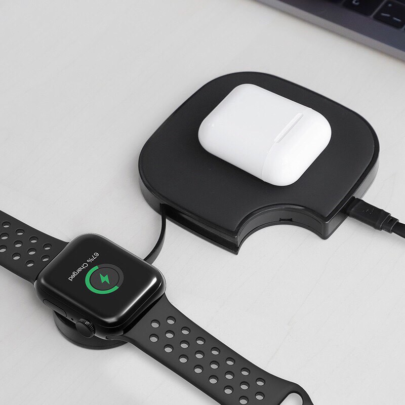 Bộ sạc không dây đa năng dành cho apple watch, aripod  & IPhone Hoco S5 Rich power -Hàng phân phối chính hãng