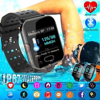 ( FREESHIP TOÀN QUỐC ) Đồng hồ thông minh thể thao A6 - Đo nhịp tim, huyết áp, lượng kalo tiêu thụ, chống nước,..... thumbnail