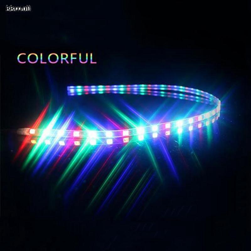 LED 45cm Motorcycle Decorative Lighting Flexible Strip DC 12V Decor Lights Lamp