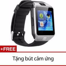 Bộ đồng hồ thông minh Smart Watch Uwatch DZ09 (bạc) và Viết cảm ứng
