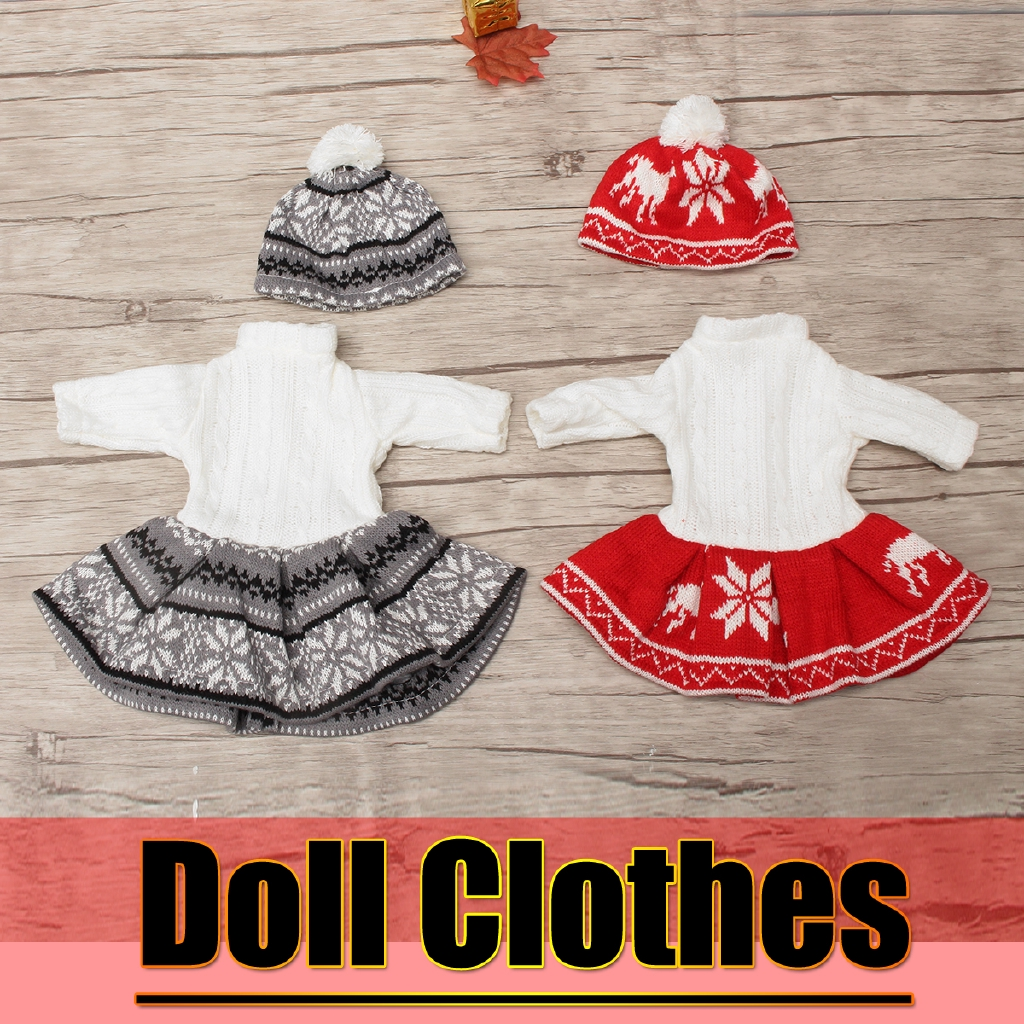 1 Set Doll Clothes Sweater Hat Pajamas For 18 Inch American Girl My Life Dolls