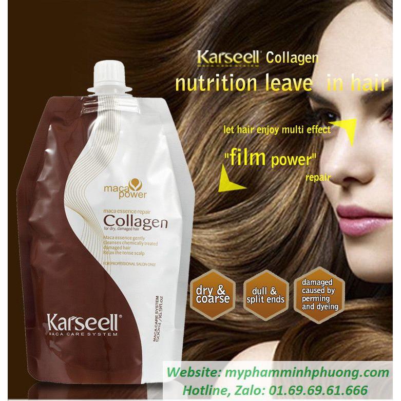 Dầu Hấp Tóc Collagen Karseell Maca Siêu Mềm Mượt (500ml)