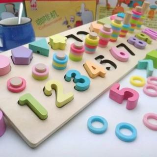 Bộ đồ chơi đếm số và nhận biết hình khối