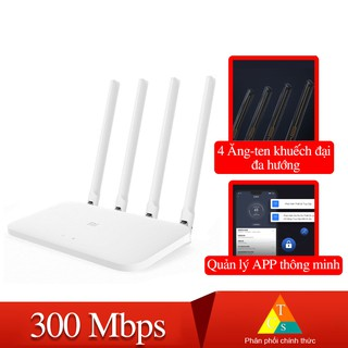 Bộ phát wifi router 4c Xiaomi Modem WiFi Xiaomi 4C 4 Râu Router R4CM