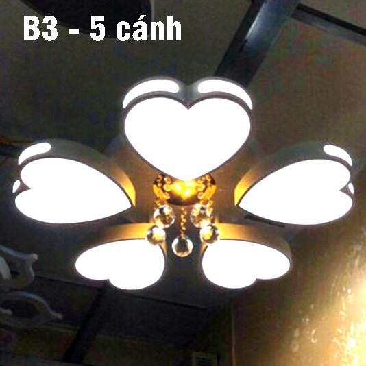 Đèn Ốp Trần Trang Trí Phòng Khách Phòng Ngủ Phòng Ăn - Đèn Trần Trang Trí Có Điều Khiển Từ Xa - 3 Chế Độ Sáng HB88