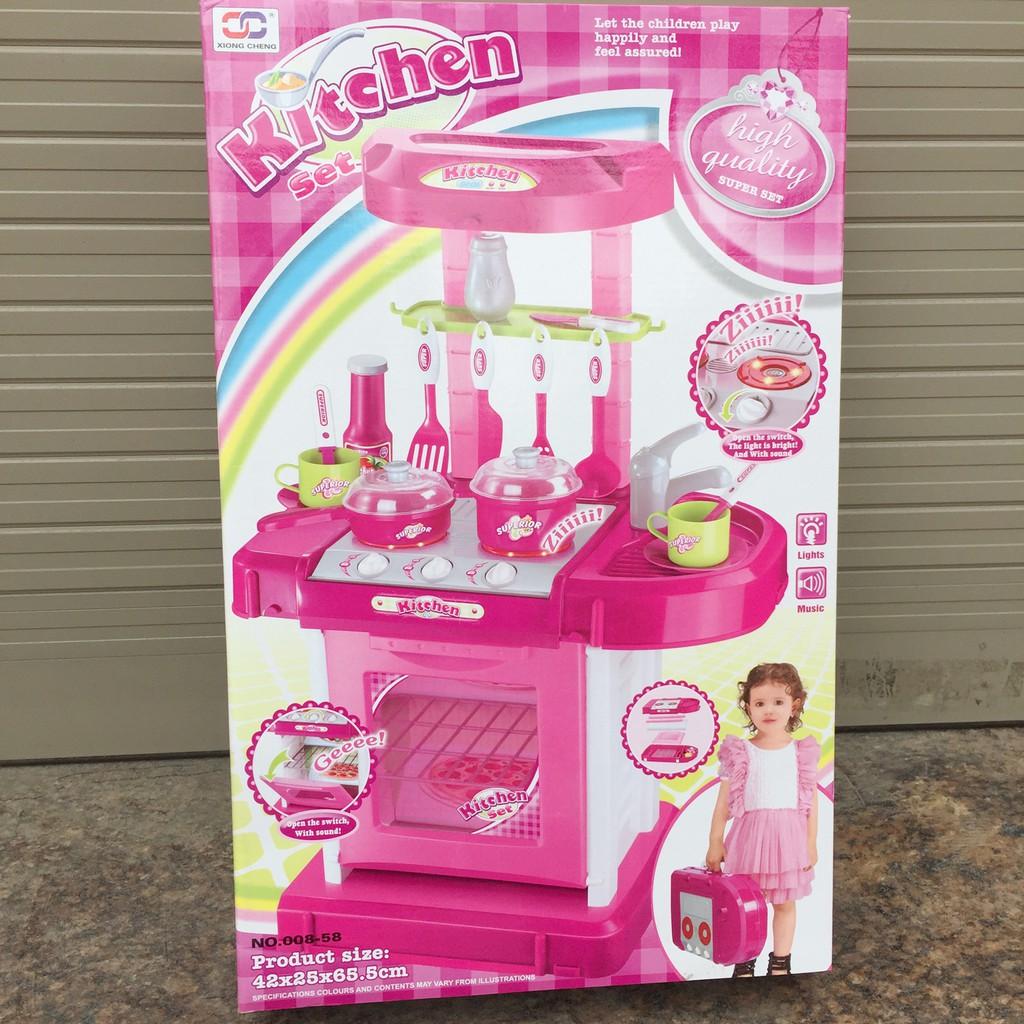 Bộ đồ chơi nấu ăn tủ bếp có lắp pin