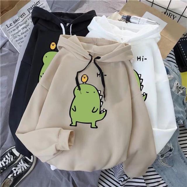 Áo hoodie khủng long Hi in ngực HARI0320