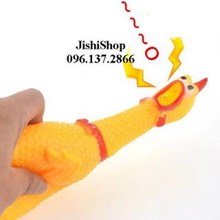 Gà La Hét Shrilling Chicken ĐỦ KÍCH CỠ – đồ chơi nhựa cao su loạn