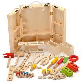 Bộ đồ chơi bé tập làm kĩ sư cho bé phát triển trí tuệ( Gỗ thông)
