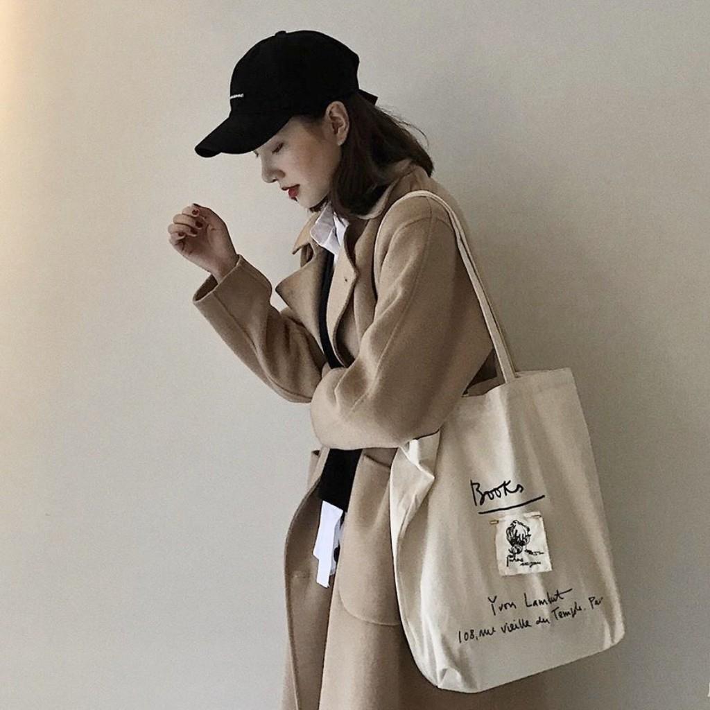 Túi vải tote ulzzang vải canvas phong cách vintage hottrend 2020