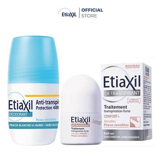 Combo Lăn Khử mùi Etiaxil 50ml (Xanh Dương) và Lăn Khử mùi và môi hôi Nhãn Nâu 15ml