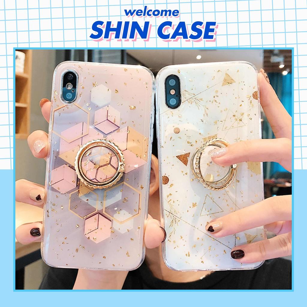 Ốp lưng iphone Golden kèm Ring 6/6plus/6s/6s plus/6/7/7plus/8/8plus/x/xs/xs max/11/11 pro/11 promax giá đỡ - Shin Case