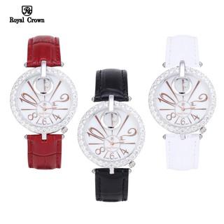 Đồng hồ nữ chính hãng Royal Crown Italy 3850 dây da các màu thumbnail