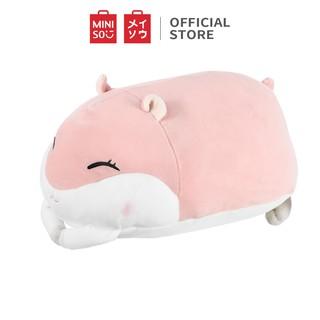 Hình ảnh Thú bông Miniso hình con Hamster nằm (Giao màu ngẫu nhiên) - Hàng chính hãng-0