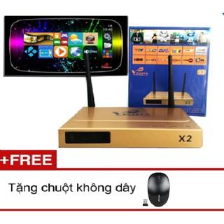 Androi Tivi Box VINABOX X2 + Tặng chuột không dây,tay game