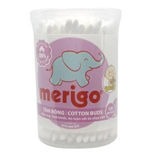 Tăm Bông Trẻ Em Merigo Baby Hộp Tròn 120 que hộp thumbnail