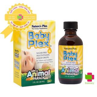 Vitamin tổng hợp Natures Plus Baby Plex Animal Parade, USA (60ml) bổ sung vitamin cho bé từ 0 đến 4 tuổi