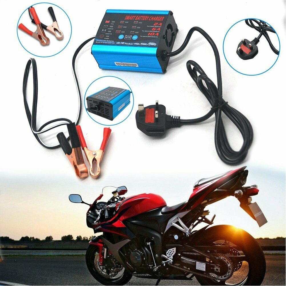 Power Intelligent Motorcycle Automatic Display Aluminum Car Battery Charger